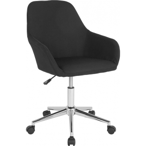Wholesale Cortana Home and Office Mid-Back Chair in Black Fabric