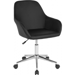 Wholesale Cortana Home and Office Mid-Back Chair in Black Leather