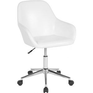 Wholesale Cortana Home and Office Mid-Back Chair in White Leather