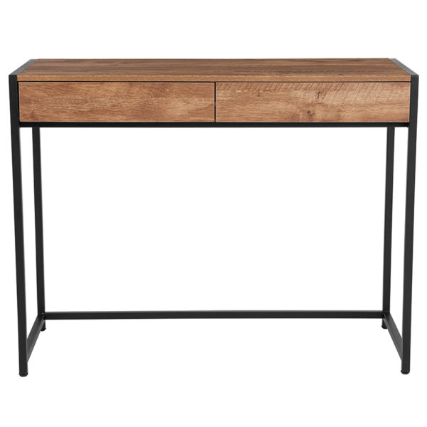 Lowest Price Cumberland Collection Computer Desk in Rustic Wood Grain Finish