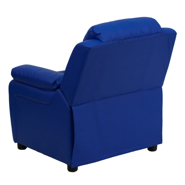 Child Sized Recliner Chair Blue Vinyl Kids Recliner