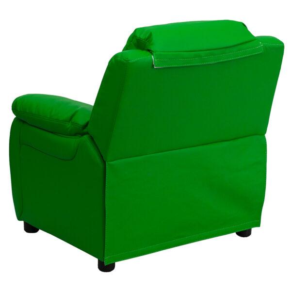 Child Sized Recliner Chair Green Vinyl Kids Recliner