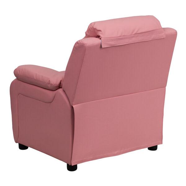 Child Sized Recliner Chair Pink Vinyl Kids Recliner