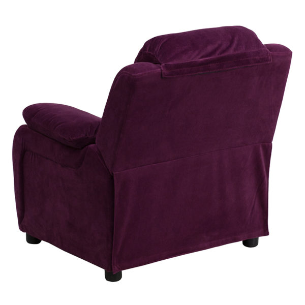 Child Sized Recliner Chair Purple Micro Kids Recliner