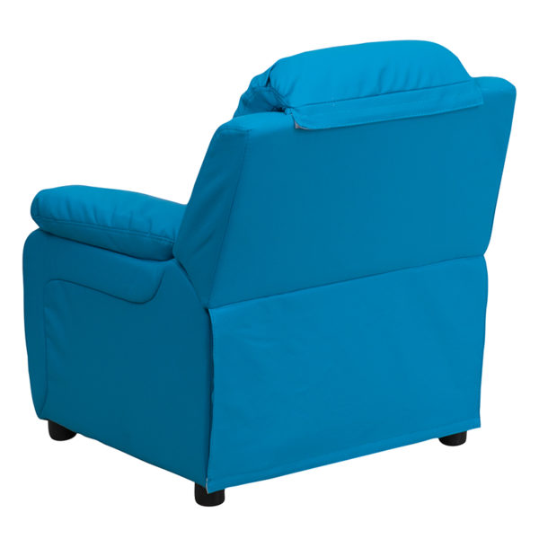 Child Sized Recliner Chair Turquoise Vinyl Kids Recliner