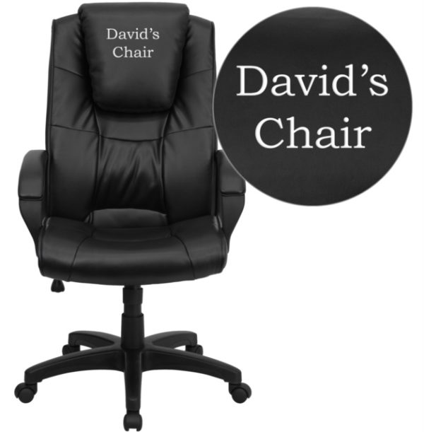 Wholesale Dreamweaver Personalized Black Leather Executive Swivel Office Chair with Arms