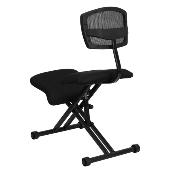Contemporary Style Black Kneeler Chair with Back
