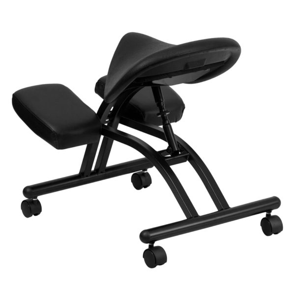 Contemporary Style Black Saddle Kneeler Chair