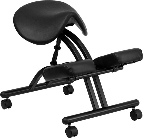 Wholesale Ergonomic Kneeling Office Chair with Black Saddle Seat