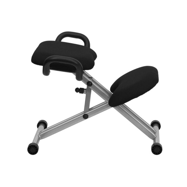 Contemporary Style Black Kneeler Chair w/ Handles