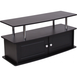 Wholesale Evanston Black TV Stand with Shelves