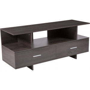 Wholesale Fields Driftwood Wood Grain Finish TV Stand and Media Console