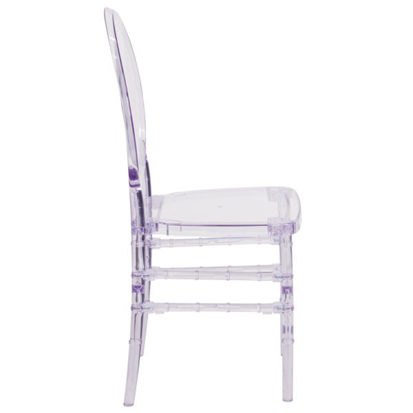 Lowest Price Flash Elegance Crystal Ice Stacking Florence Chair