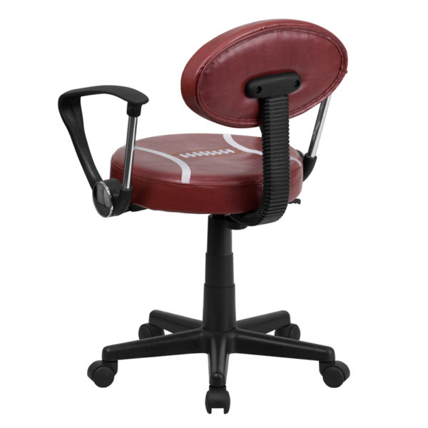 Sports Inspired Task Chair Football Low Back Task Chair