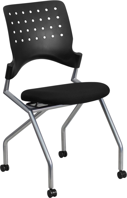 Wholesale Galaxy Mobile Nesting Chair with Black Fabric Seat