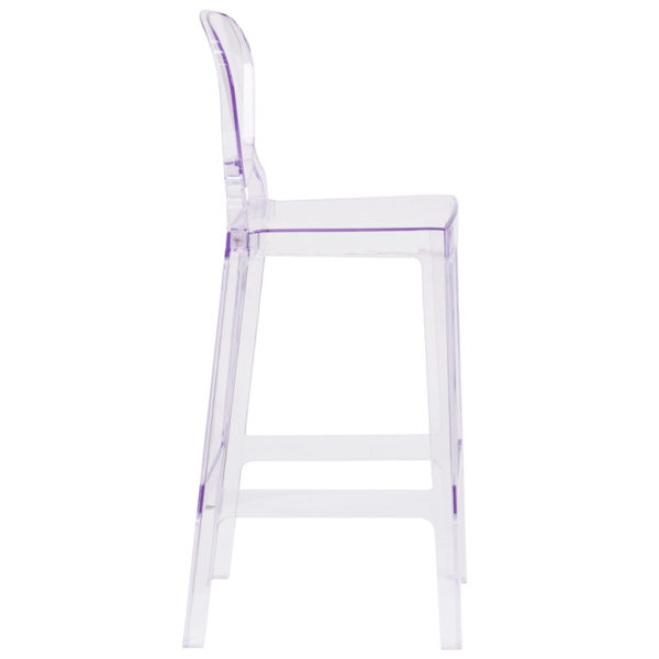 Lowest Price Ghost Barstool with Tear Back in Transparent Crystal