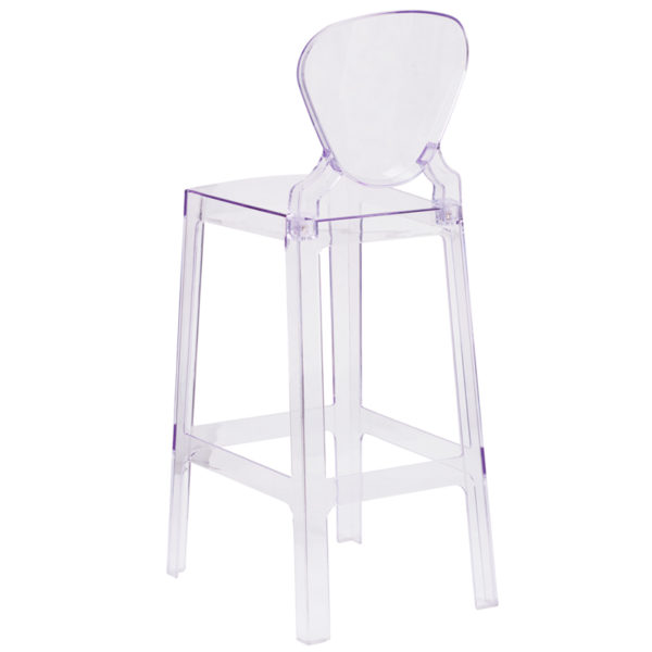 Contemporary Bar Stool Tear Back Ghost Barstool
