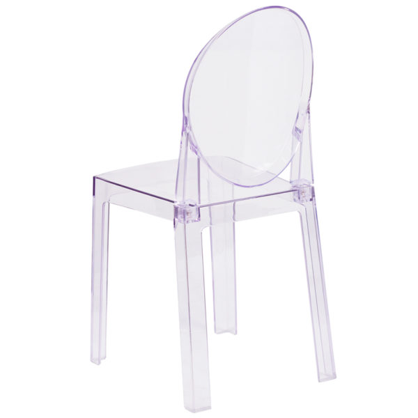 Classic Style Accent Chair Clear Oval Back Ghost Chair