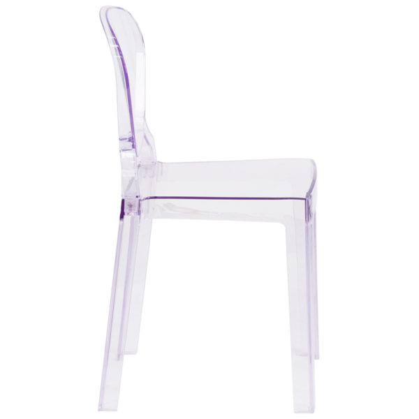 Lowest Price Ghost Chair with Tear Back in Transparent Crystal