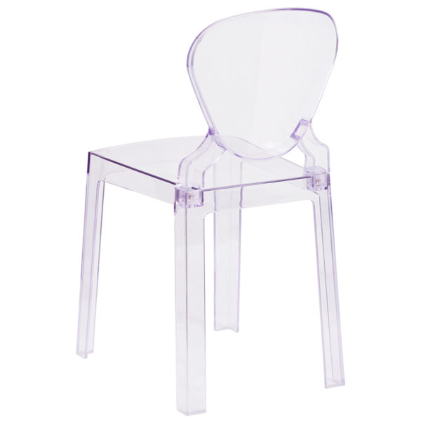 Classic Style Accent Chair Clear Tear Back Ghost Chair