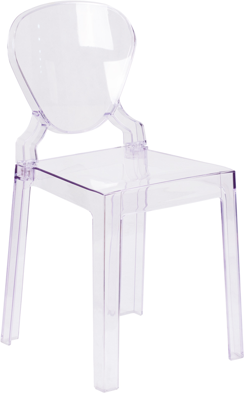 Wholesale Ghost Chair with Tear Back in Transparent Crystal