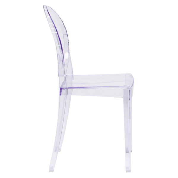 Lowest Price Ghost Side Chair in Transparent Crystal
