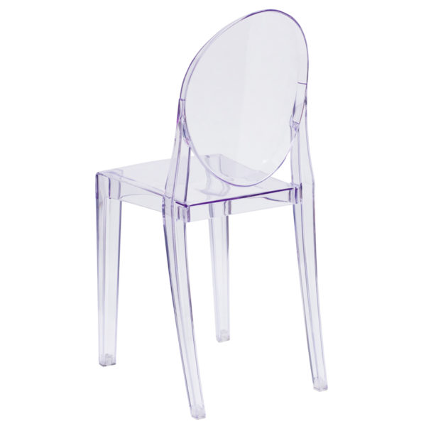 Classic Style Accent Chair Ghost Stacking Side Chair