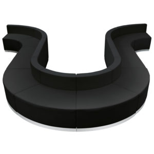 Wholesale HERCULES Alon Series Black Leather Reception Configuration