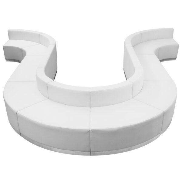 Wholesale HERCULES Alon Series Melrose White Leather Reception Configuration