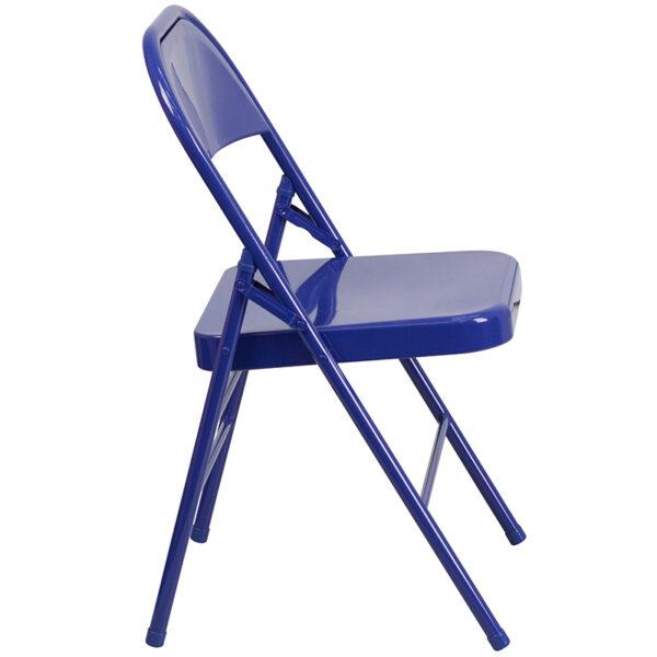 Metal Folding Chair Cobalt Blue Folding Chair