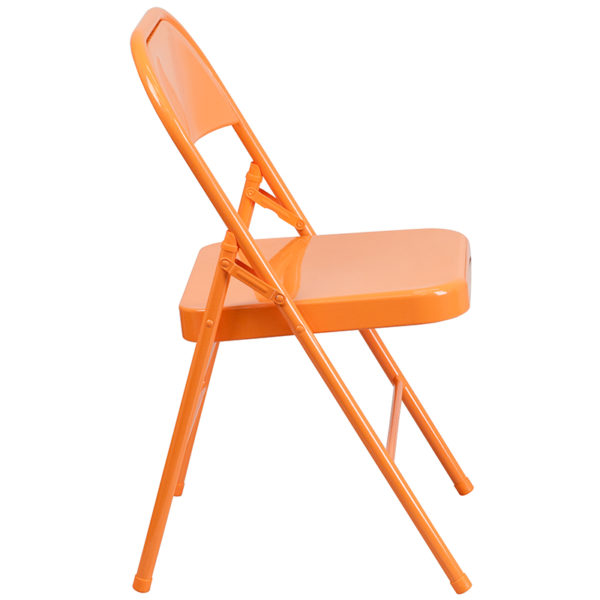 Metal Folding Chair Orange Marmalade Folding Chair