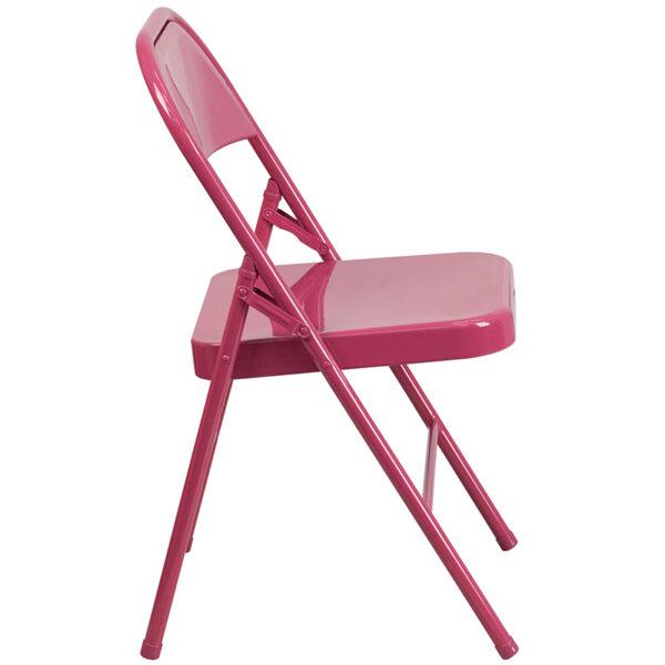 Metal Folding Chair Fuchsia Folding Chair