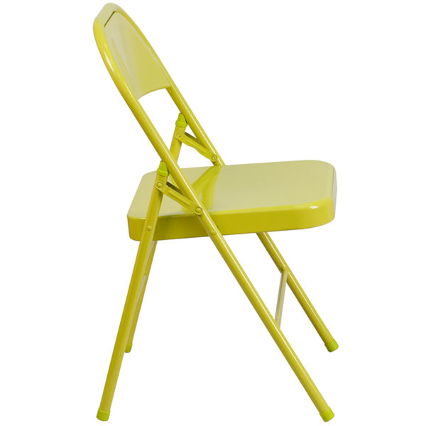 Metal Folding Chair Twisted Citron Folding Chair