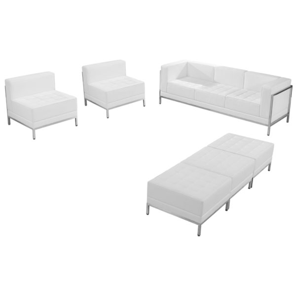 Wholesale HERCULES Imagination Series Melrose White Leather Sofa