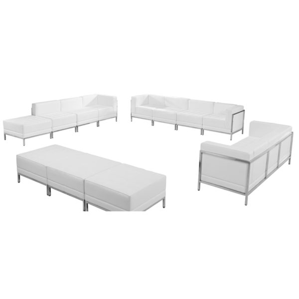 Wholesale HERCULES Imagination Series Melrose White Leather Sofa