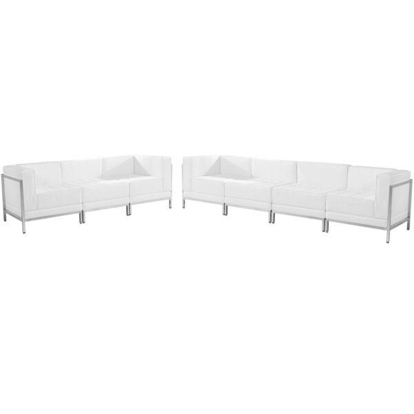 Wholesale HERCULES Imagination Series Melrose White Leather Sofa Set