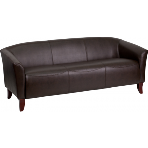 Wholesale HERCULES Imperial Series Brown Leather Sofa