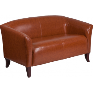 Wholesale HERCULES Imperial Series Cognac Leather Loveseat