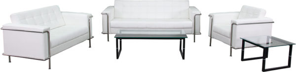 Lowest Price HERCULES Lesley Series Reception Set in Melrose White