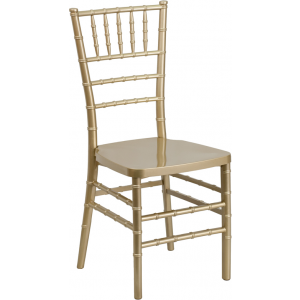 Wholesale HERCULES PREMIUM Series Gold Resin Stacking Chiavari Chair