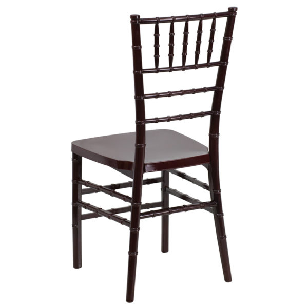 Chiavari Seating Mahogany Resin Chiavari Chair