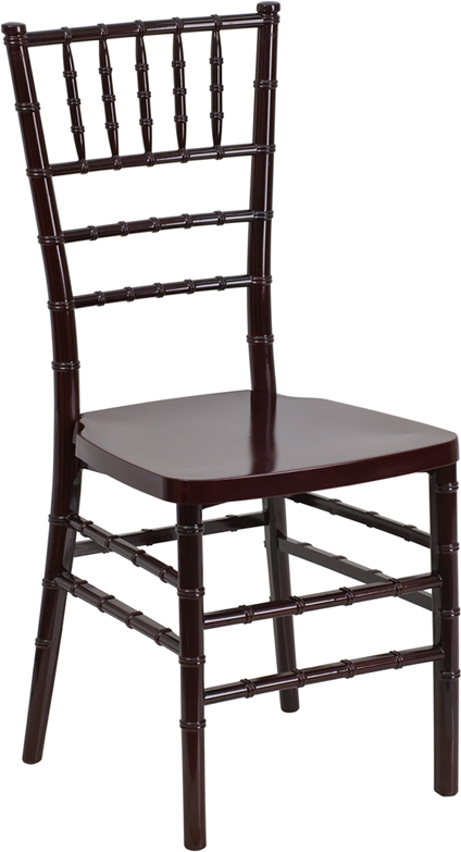 Wholesale HERCULES PREMIUM Series Mahogany Resin Stacking Chiavari Chair