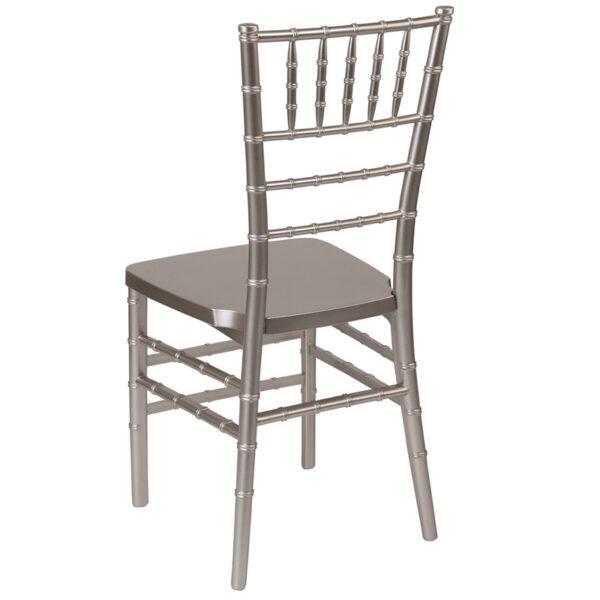 Chiavari Seating Pewter Resin Chiavari Chair