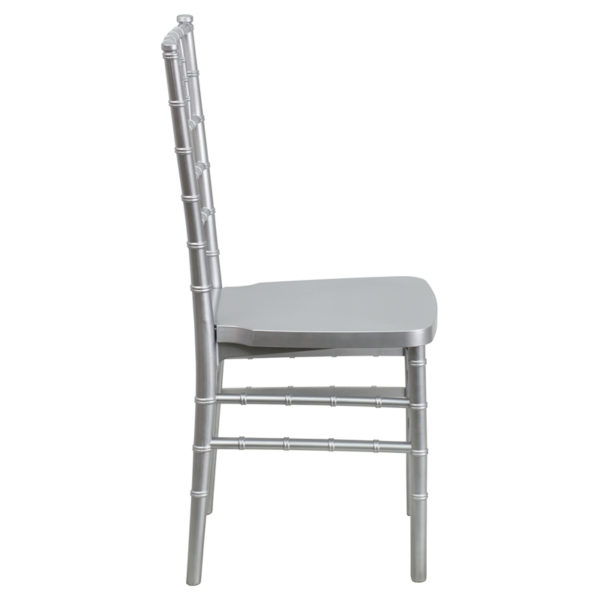 Lowest Price HERCULES PREMIUM Series Silver Resin Stacking Chiavari Chair