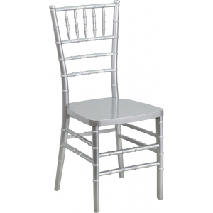 Wholesale HERCULES PREMIUM Series Silver Resin Stacking Chiavari Chair