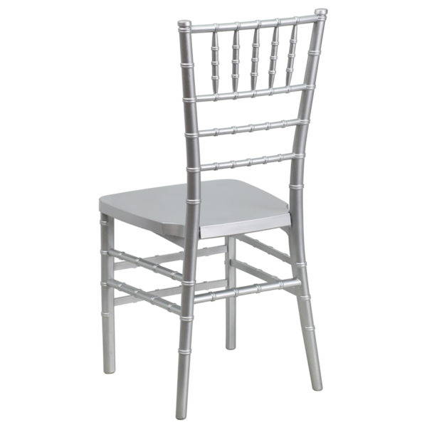 Chiavari Seating Silver Resin Chiavari Chair