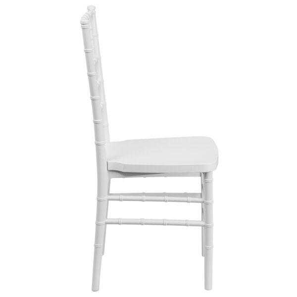 Lowest Price HERCULES PREMIUM Series White Resin Stacking Chiavari Chair