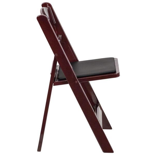 Resin Folding Chair Mahogany Resin Folding Chair