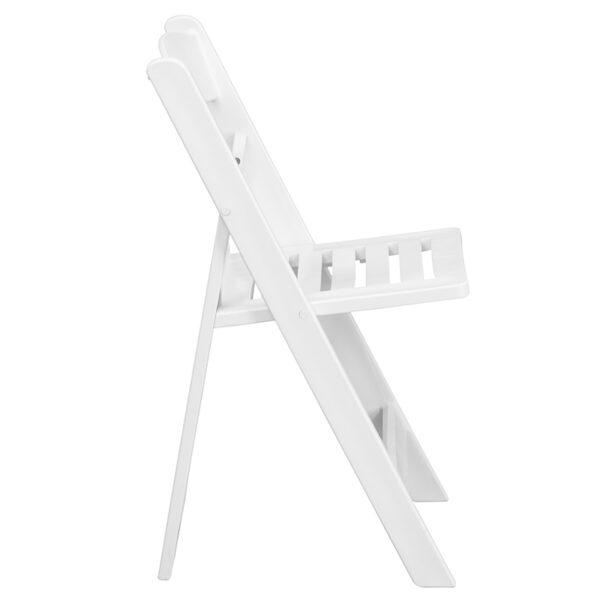 Resin Folding Chair White Resin Folding Chair