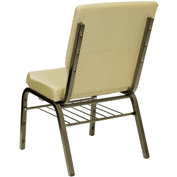 Multipurpose Church Chair Beige Fabric Church Chair